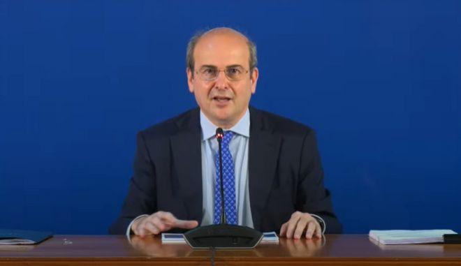 Ο υπουργός Εργασίας Κωστής Χατζηδάκης