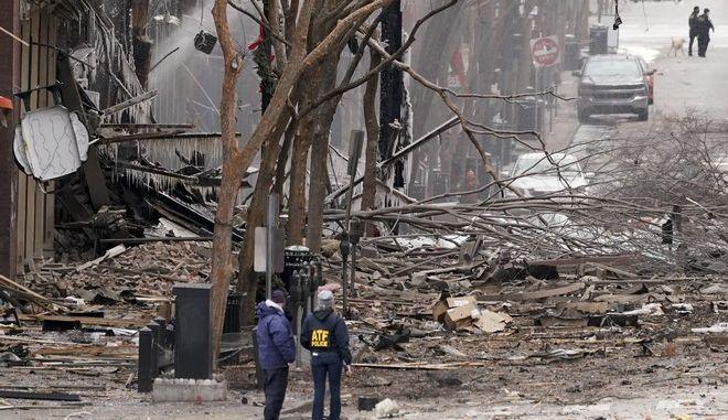 Έκρηξη τροχόσπιτου στο Νάσβιλ