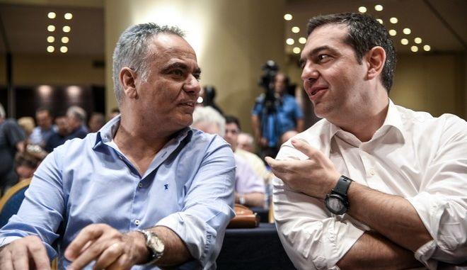 Ο Αλέξης Τσίπρας και ο Πάνος Σκουρλέτης