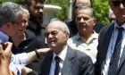 Θανάσης Γιαννακόπουλος στην κηδεία του αδερφού του, Παύλου