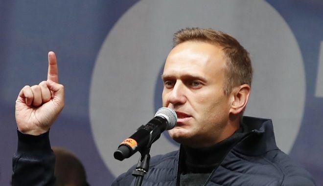 Ο Αλεξέι Ναβάλνι σε ομιλία στη Μόσχα τον Σεπτέμβριο του 2019
