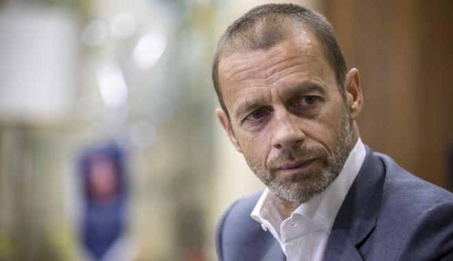 O πρόεδρος της UEFA, Αλεξάντερ Τσέφεριν