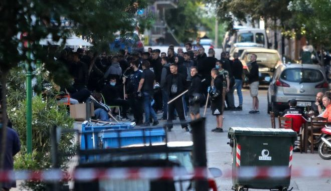 Οπαδοί του ΠΑΟΚ στο κέντρο της Αθήνας