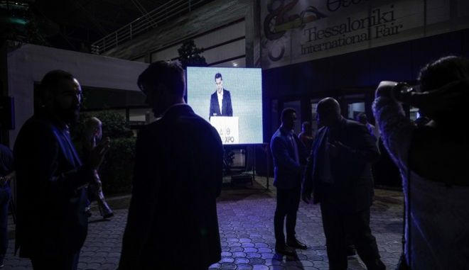 Greece's prime minister Alexis Tsipras delivers his annual keynote speech during the opening of 82st Thessaloniki International Fair (TIF) in Thessaloniki, Greece on September 9, 2017. /         82 , , 9  2017.