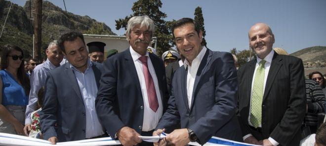 Ο πρωθυπουργός Αλέξης Τσίπρας εγκαινίασε τη μονάδα αφαλάτωσης στο Καστελόριζο