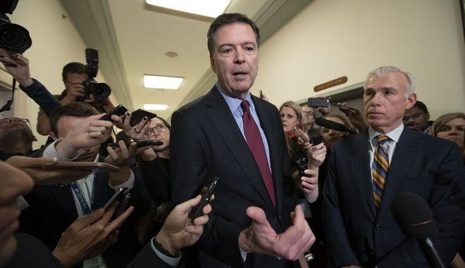 Σε ανοιχτή εκδήλωση θα μιλήσει ο πρώην διευθυντής του FBI, Τζέιμς Κόμεϊ
