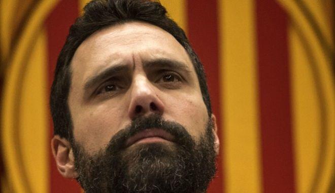 Ο πρόεδρος του καταλανικού περιφερειακού κοινοβουλίου Ρότζερ Τόρεντ