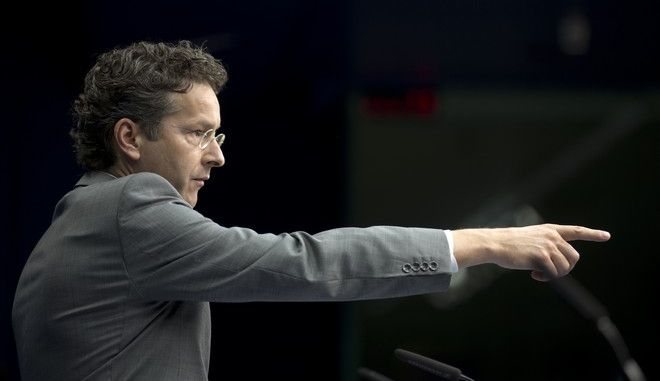 Dutch Finance Minister and chair of the eurogroup Jeroen Dijsselbloem speaks during a media conference after a meeting of eurogroup finance ministers in Brussels on Saturday, June 27, 2015. Anxiety over Greece's future swelled on Saturday after Prime Minister Alexis Tsipras' call to have the people vote on a proposed bailout deal. (AP Photo/Thierry Monasse)