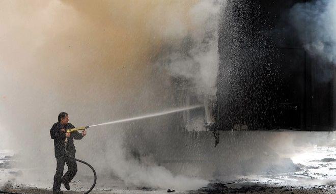 Πυρκαγιά σε φορτηγό /Φωτό αρχείο