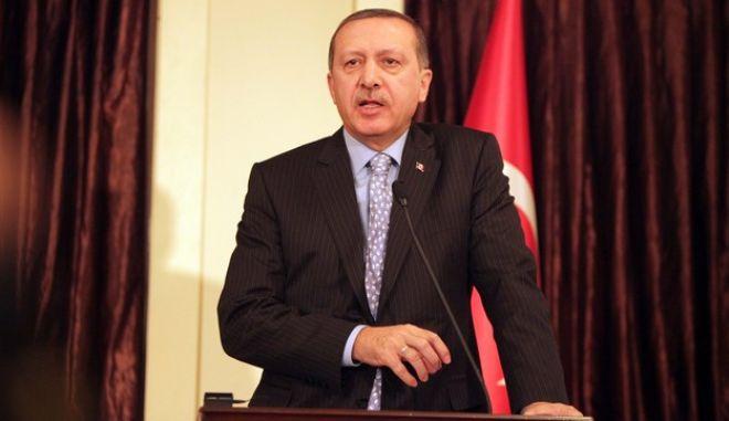 """Συνέντευξη Τύπου του Γιώργου Α. Παπανδρέου και του Recep Tayyip Erdogan Ξενοδοχείο """"Dedeman Palandoken"""" Ερζουρούμ, Τουρκία, Παρασκευή 7 Ιανουαρίου, 2011. (EUROKINISSI / ΦΙΛΗΣ ΒΑΣΙΛΗΣ)"""