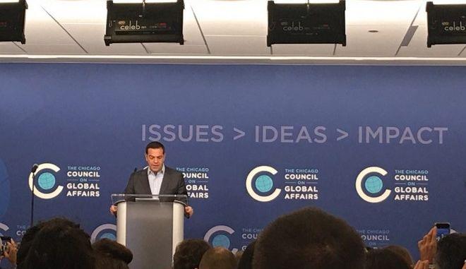 Η ομιλία Τσίπρα στο Chicago Council on Global Affairs