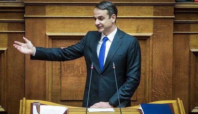 Ο πρόεδρος της ΝΔ, Κ. Μητσοτάκης