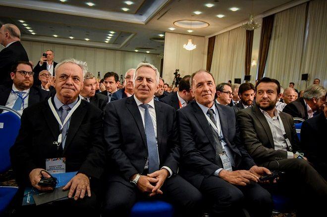 Ομιλίες του  Πρωθυπουργού Αλέξη Τσίπρα και του Πρωθυπουργού της Βόρειας Μακεδονίας Ζόραν Ζάεφ,σε φόρουμ επιχειρηματιών των δυο χωρών, Τρίτη 2 Απριλίου 2019