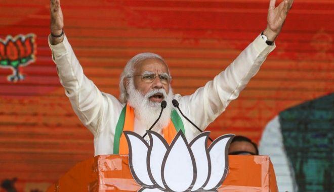 Ο πρωθυπουργός της Ινδίας, Ναρέντρα Μόντι
