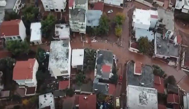 Βίντεο drone: Ιδού η καταστροφή στη Δυτική Αττική