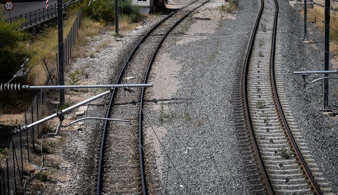 Ράγες τρένου - φωτογραφία αρχείου