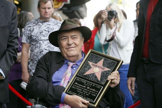 Στην απονομή του αστεριού του στο Hollywood Walk of Fame