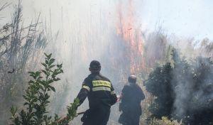 Mεγάλη φωτιά στο Λιβάδι Θεσσαλονίκης