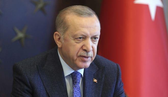 Ο πρόεδρος της Τουρκίας, Ερντογάν