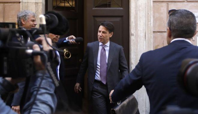 Ο εντολοδόχος πρωθυπουργός της Ιταλίας Τζουζέπε Κόντε