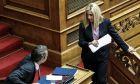 Στιγμιότυπο με τον Κυριάκο Μητσοτάκη και τη Φώφη Γεννηματά στη Βουλή