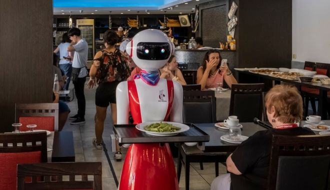 Ρομπότ σε εστιατόριο της Ιταλίας (φωτό αρχείου)
