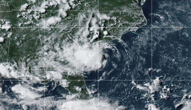 Η δορυφορική εικόνα της τροπικής καταιγίδας Ντάνι