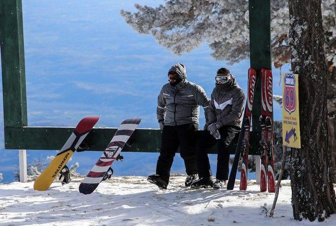 Στιγμιότυπο από χιονοδρομικό κέντρο
