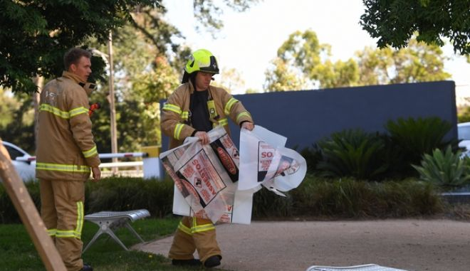 Eικόνα από τις έρευνες των αρχών στην Αυστραλία
