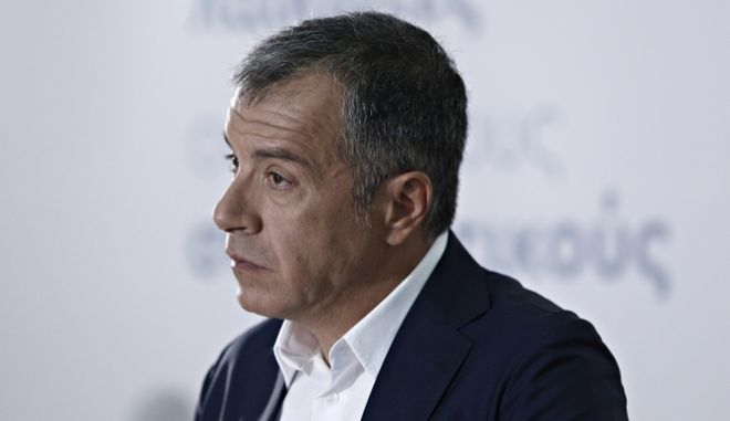 Press conference by the leader of the Potami (River) Greek party during the 81st TIF on September 14, 2016. /           81 , 14  2016.