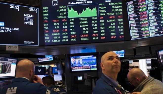 Traders στο χρηματιστήριο της Wall Street