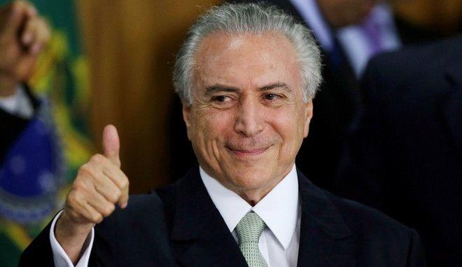 Διάλογο για οικονομική ανάπτυξη ζητά ο υπηρεσιακός πρόεδρος της Βραζιλίας