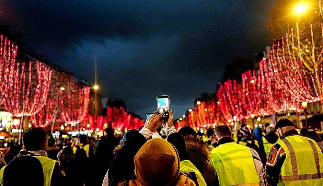 Από τις διαδηλώσεις των κίτρινων γιλέκων