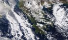 Η χιονισμένη Ελλάδα από δορυφόρο