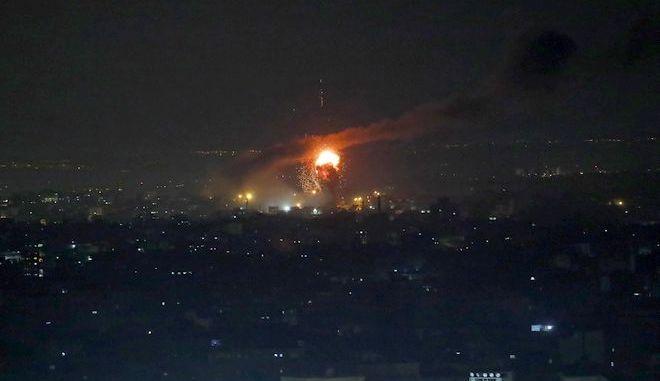 Από τις αεροπορικές επιδρομές στη Γάζα