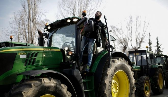 Farmers rally at the opening of Zootechnia international livestock and poultry fair, in Thessaloniki, Greece on February 2, 2017. /       Zootechnia, , 2  2017.