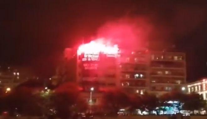 Θεσσαλονίκη: Πορεία αλληλεγγύης στις καταλήψεις - Πυρσοί στο Εργατοϋπαλληλικό Κέντρο