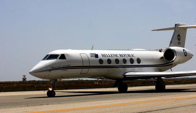 Ένα από τα πρωθυπουργικά αεροσκάφη