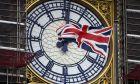 Η βρετανική σημαία στο Big Ben.