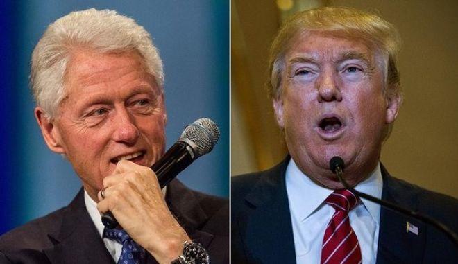 """Ο Ντόναλντ Τραμπ κατηγορεί τον Μπιλ Κλίντον για """"βιασμό"""""""