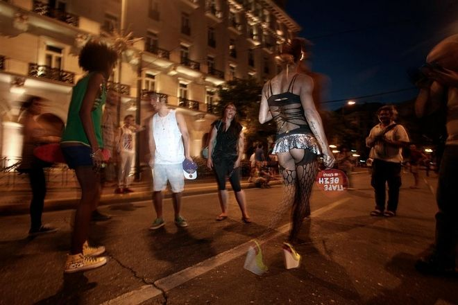 Annual Gay Pride parade in Athens, Greece on June 13, 2015. /  , ,   13  2015.