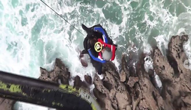 Βίντεο από τη διάσωση του πληρώματος θαλαμηγού από Super Puma