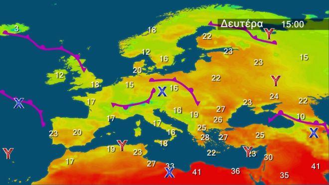 Καιρός: Αραιές νεφώσεις, σκόνη και υψηλές θερμοκρασίες