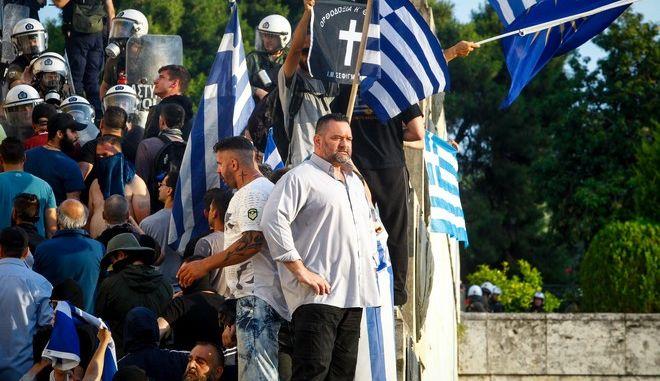 Απογευματινό κάλεσμα σε συλλαλητήριο ενάντια στην συμφωνία που προωθεί η κυβέρνηση για την ονομασία των Σκοπίων,παράλληλα με την συζήτηση που διεξάγεται μέσα στην βουλή, Σάββατο 16 Ιουνίου 2018 (EUROKINISSI/ΘΑΝΑΣΗΣ ΔΗΜΟΠΟΥΛΟΣ)
