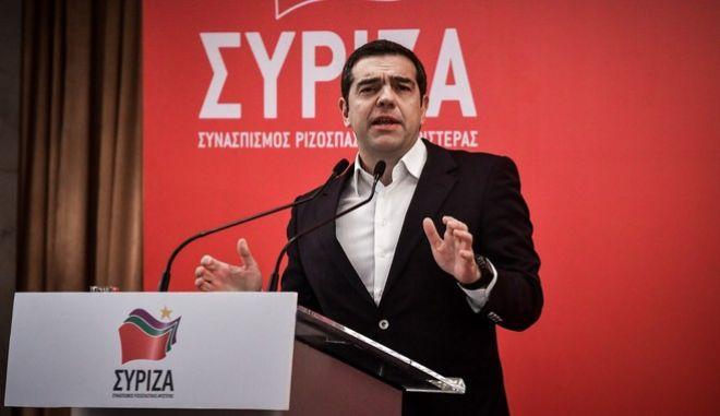 Ο Αλέξης Τσίπρας στη συνεδρίαση της Κεντρικής Επιτροπής ΣΥΡΙΖΑ