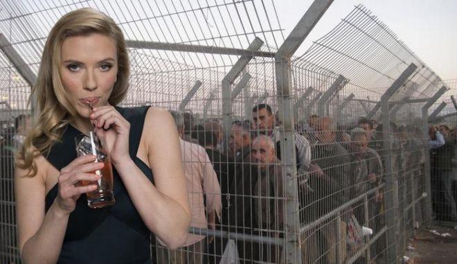 Παλαιστίνιοι και social media εναντίον Scarlett Johansson για τη Soda Stream