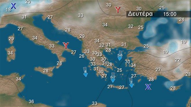 Καιρός: Χαλάζι και καταιγίδες σήμερα - Βοριάδες 7 μποφόρ με τάση εξασθένισης τις επόμενες μέρες