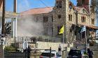 Σημαντικές ζημιές προκάλεσε η σημερινή ισχυρή δόνηση στον Ιερό ναό Αγίου Δημητρίου στο Μεσοχώρι του Δήμου Ελασσόνας.