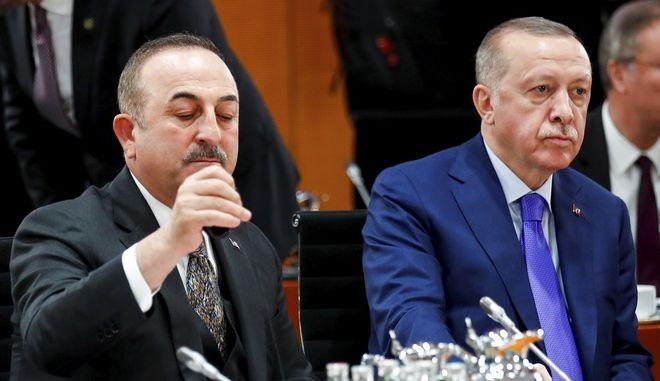 Ερντογάν και Τσαβούσογλου