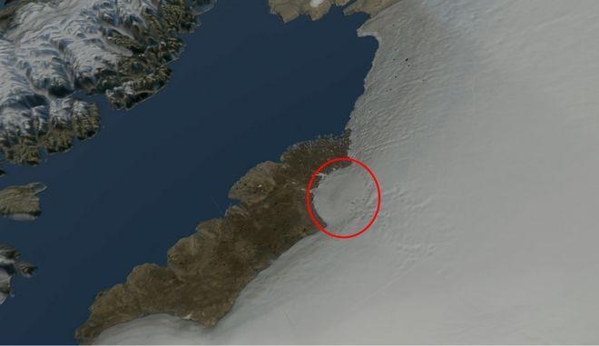 Τιτάνιος κρατήρας διαμέτρου 31 χλμ αποκαλύφτηκε στη Γροιλανδία